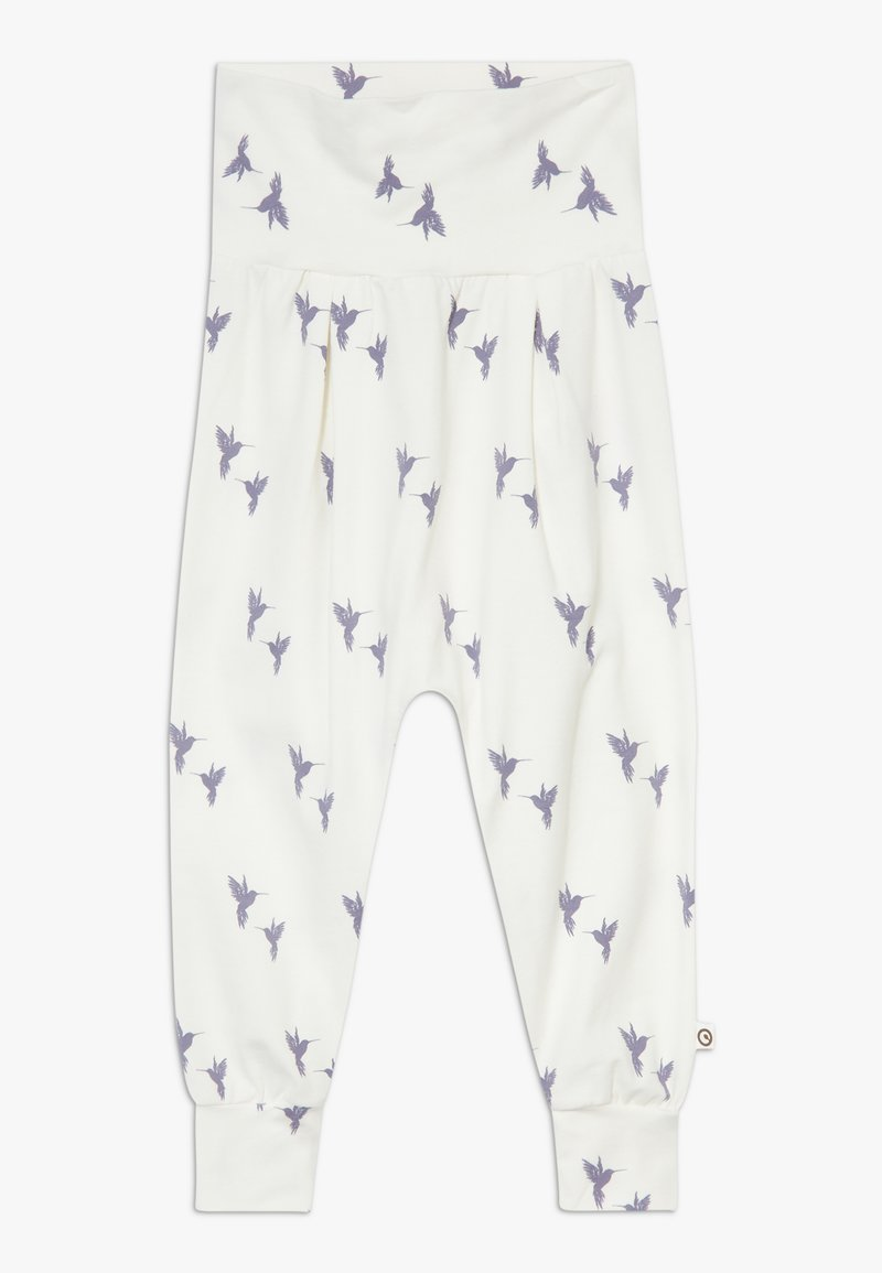Müsli by GREEN COTTON - SHADOW BABY ZGREEN - Trousers - cream