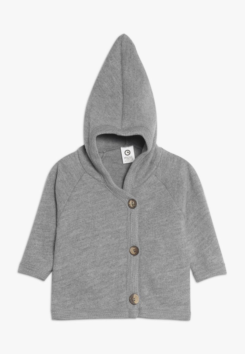 Müsli by GREEN COTTON - JACKET BABY - Fleecejas - pale grey