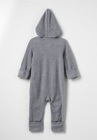 Müsli by GREEN COTTON - SUIT WITH HOOD BABY - Overall / Jumpsuit - pale greymarl - 1