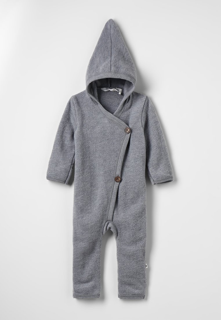 Müsli by GREEN COTTON - SUIT WITH HOOD BABY - Overal - pale greymarl