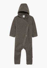 Müsli by GREEN COTTON - SUIT WITH HOOD BABY - Jumpsuit - walnut - 0