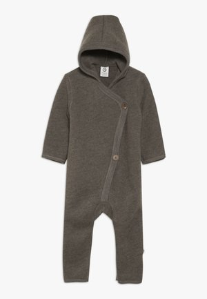 SUIT WITH HOOD BABY - Overal - walnut
