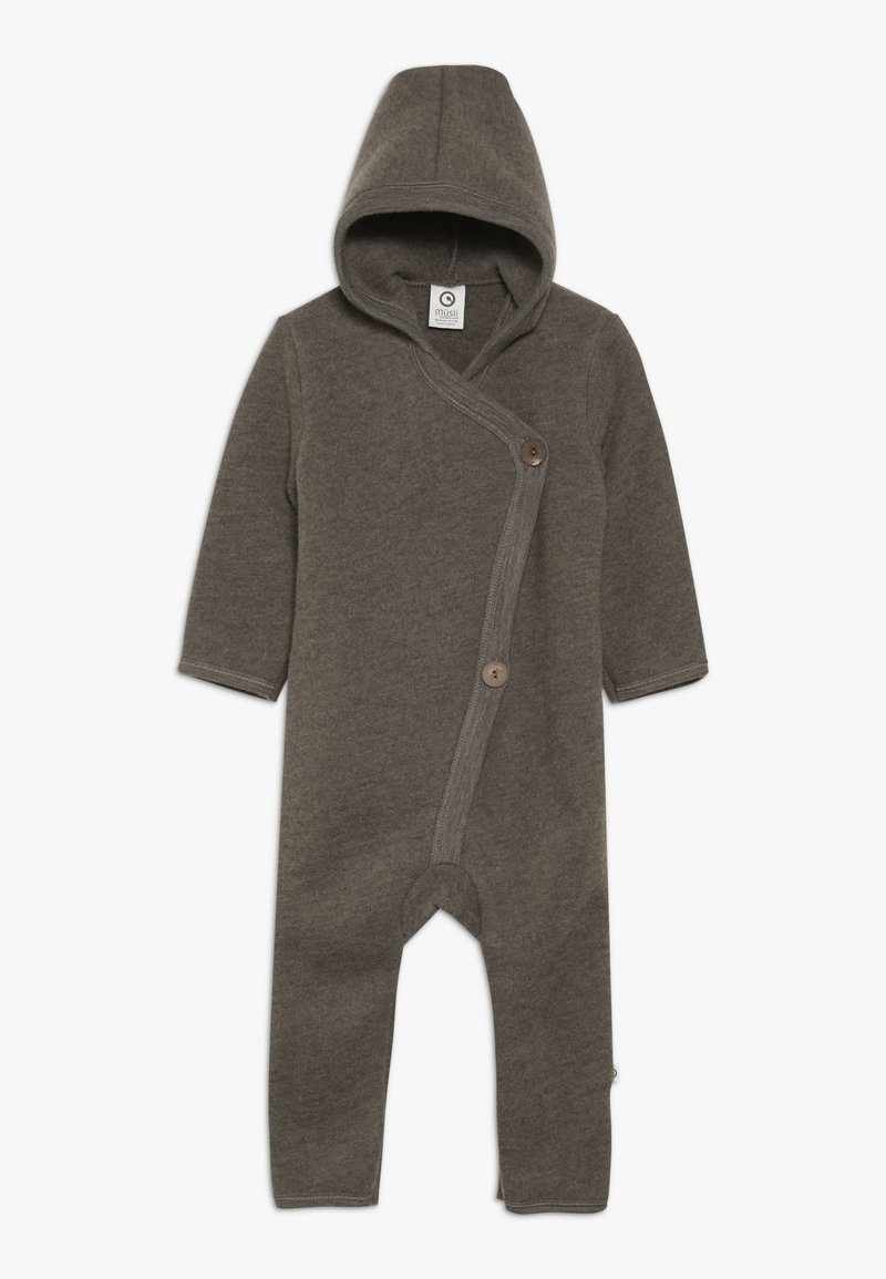 Müsli by GREEN COTTON - SUIT WITH HOOD BABY - Overall / Jumpsuit - walnut