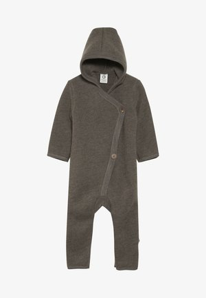 SUIT WITH HOOD BABY - Jumpsuit - walnut