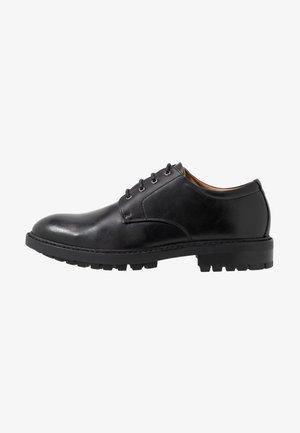 KLIPER - Šněrovací boty - black