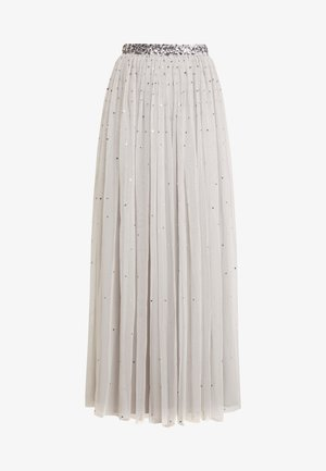 SCATTER SEQUIN SKIRT WITH EMBELLISHED WAISTBAND - Maxiskjørt - grey