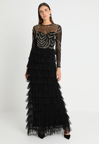 Maya Deluxe - EMBELLISHED MAXI DRESS WITH TIERED SKIRT - Occasion wear - black - 0