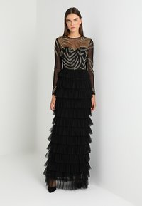 Maya Deluxe - EMBELLISHED MAXI DRESS WITH TIERED SKIRT - Occasion wear - black - 2