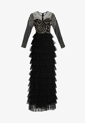 EMBELLISHED MAXI DRESS WITH TIERED SKIRT - Occasion wear - black