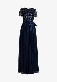 Maya Deluxe - STRIPE EMBELLISHED MAXI DRESS WITH BOW TIE - Suknia balowa - navy