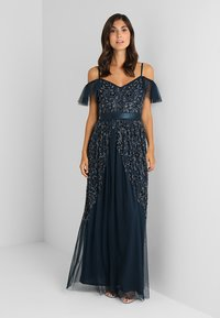 Maya Deluxe - COLD SHOULDER EMBELLISHED MAXI DRESS - Occasion wear - navy - 2