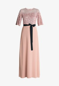 Maya Deluxe - SEQUIN BODICE MAXI WITH SHEER YOKE AND CONTRAST TIE BELT - Iltapuku - pale mauve - 5