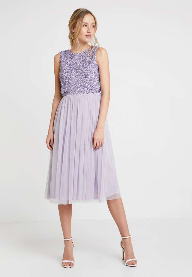 SLEEVELESS DOUBLE LAYER EMBELLISHED LONG MIDI DRESS - Cocktailkjole - lilac