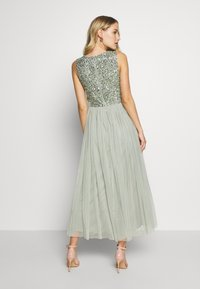 Maya Deluxe - SLEEVELESS DOUBLE LAYER EMBELLISHED LONG MIDI DRESS - Cocktailklänning - green - 2