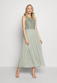 Maya Deluxe - SLEEVELESS DOUBLE LAYER EMBELLISHED LONG MIDI DRESS - Cocktailklänning - green - 1