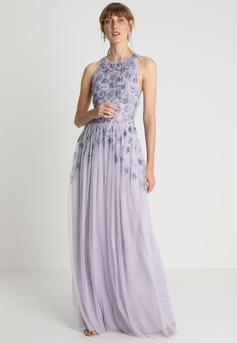 Maya Deluxe - EMBELLISHED BOW BACK MAXI DRESS - Occasion wear - lilac