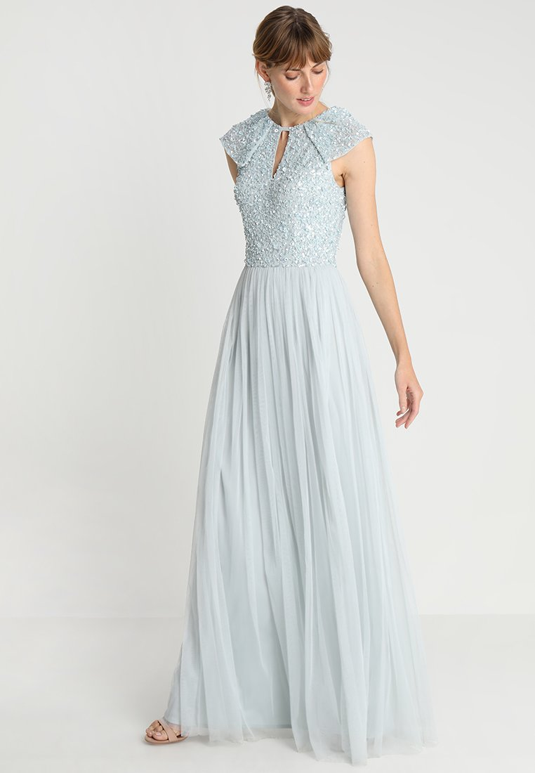 Maya Deluxe - KEYHOLE FRONT EMBELLISHED BODICE MAXI DRESS - Occasion wear - ice blue