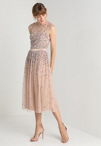 Maya Deluxe - CLUSTER EMBELLISHED MIDI DRESS WITH YOKE - Cocktail dress / Party dress - taupe blush/multi - 1