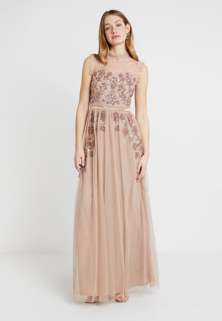 Maya Deluxe HIGH NECK MAXI DRESS - Robe de cocktail taupe blush