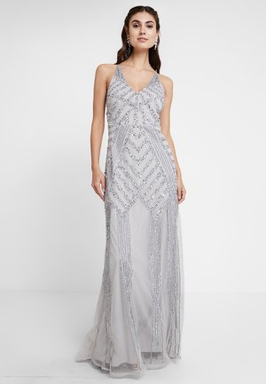 EMBELLISHED MAXI DRESS - Galajurk - soft grey