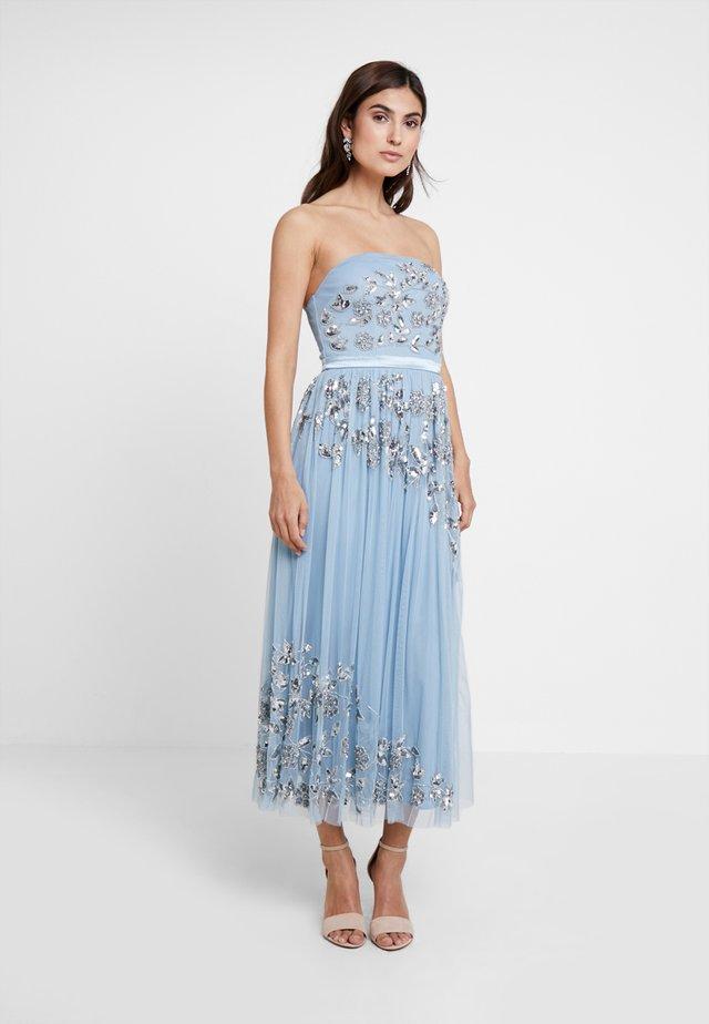 BANDEAU EMBELLISHEDMIDI DRESS - Abito da sera - blue