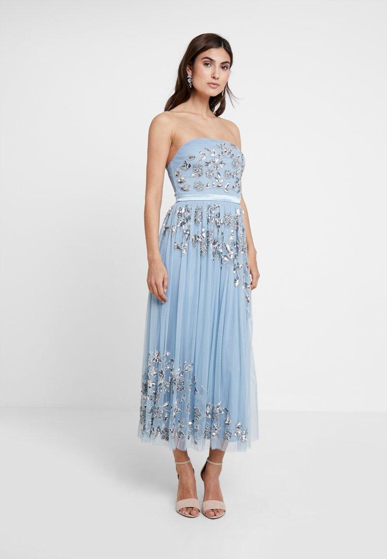 Maya Deluxe - BANDEAU EMBELLISHEDMIDI DRESS - Occasion wear - blue