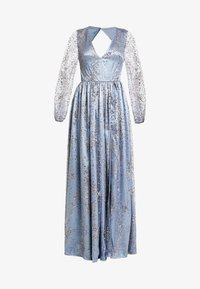 Maya Deluxe - STAR GLITTER MAXI DRESS WITH BISHOP SLEEVES AND OPEN BACK - Ballkjole - blue/multi - 4