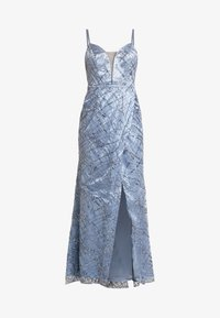 Maya Deluxe - ALL OVER GLITTER CAMI MAXI WITH PLUNGE FRONT - Robe de cocktail - blue - 4