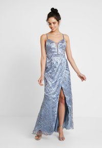 Maya Deluxe - ALL OVER GLITTER CAMI MAXI WITH PLUNGE FRONT - Robe de cocktail - blue - 2