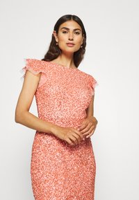 Maya Deluxe - ALL OVER EMBELLISHED DRESS - Iltapuku - coral - 3