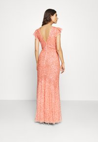 Maya Deluxe - ALL OVER EMBELLISHED DRESS - Iltapuku - coral - 2