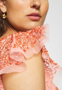 Maya Deluxe - ALL OVER EMBELLISHED DRESS - Iltapuku - coral - 6
