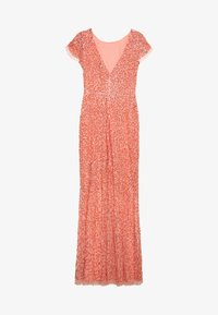 Maya Deluxe - ALL OVER EMBELLISHED MAXI DRESS - Festklänning - coral - 0