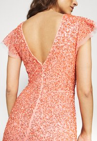 Maya Deluxe - ALL OVER EMBELLISHED DRESS - Iltapuku - coral - 4