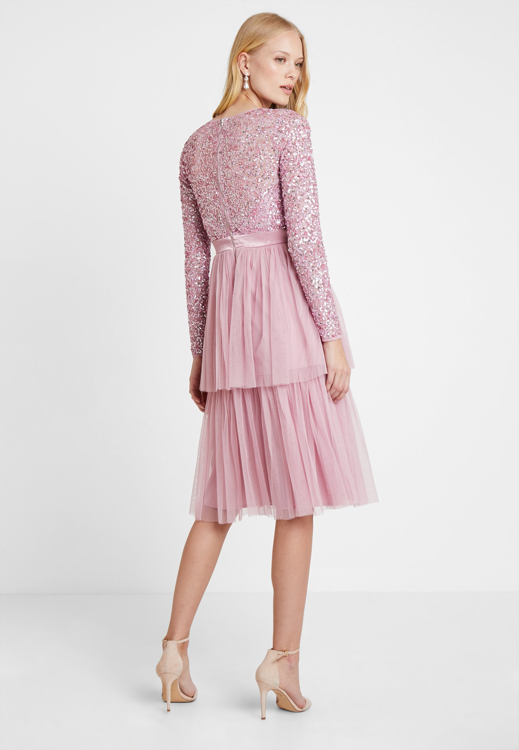 Embellished Midi Soirée Deluxe De Maya Pink Tiered Dress With BodiceRobe CdxerBoW