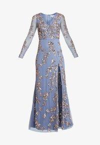 Maya Deluxe - LONG SLEEVE ALL OVER EMBELLISHED DRESS - Ballkleid - blue/bronze - 6
