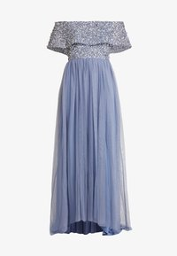 Maya Deluxe - OVERSIZED BARDOT HIGH LOW DRESS - Ballkjole - dusty blue - 5