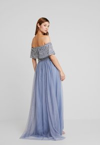 Maya Deluxe - OVERSIZED BARDOT HIGH LOW DRESS - Ballkjole - dusty blue - 3