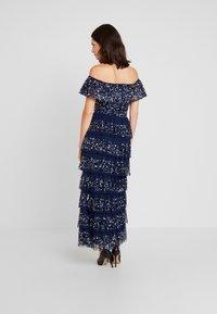 Maya Deluxe - ALL OVER EMBELLISHED TIERED BARDOT MIDAXI DRESS - Vestido de fiesta - navy - 3