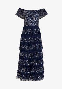 Maya Deluxe - ALL OVER EMBELLISHED TIERED BARDOT MIDAXI DRESS - Vestido de fiesta - navy - 6