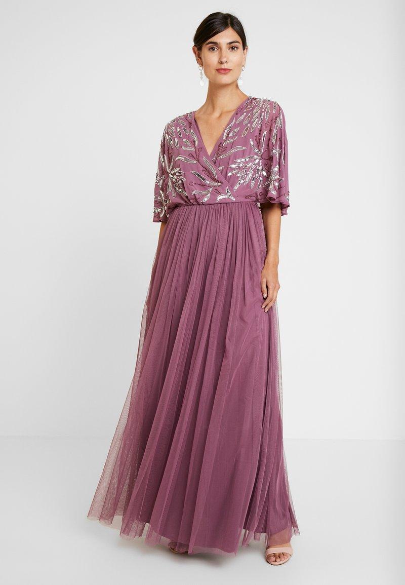 Maya Deluxe - EMBELLISHED KIMONOWRAP MAXI DRESS - Robe de cocktail - purple