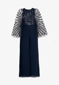 Maya Deluxe - STRIPE EMBELLISHED WITH CAPE SLEEVES - Jumpsuit - navy - 5