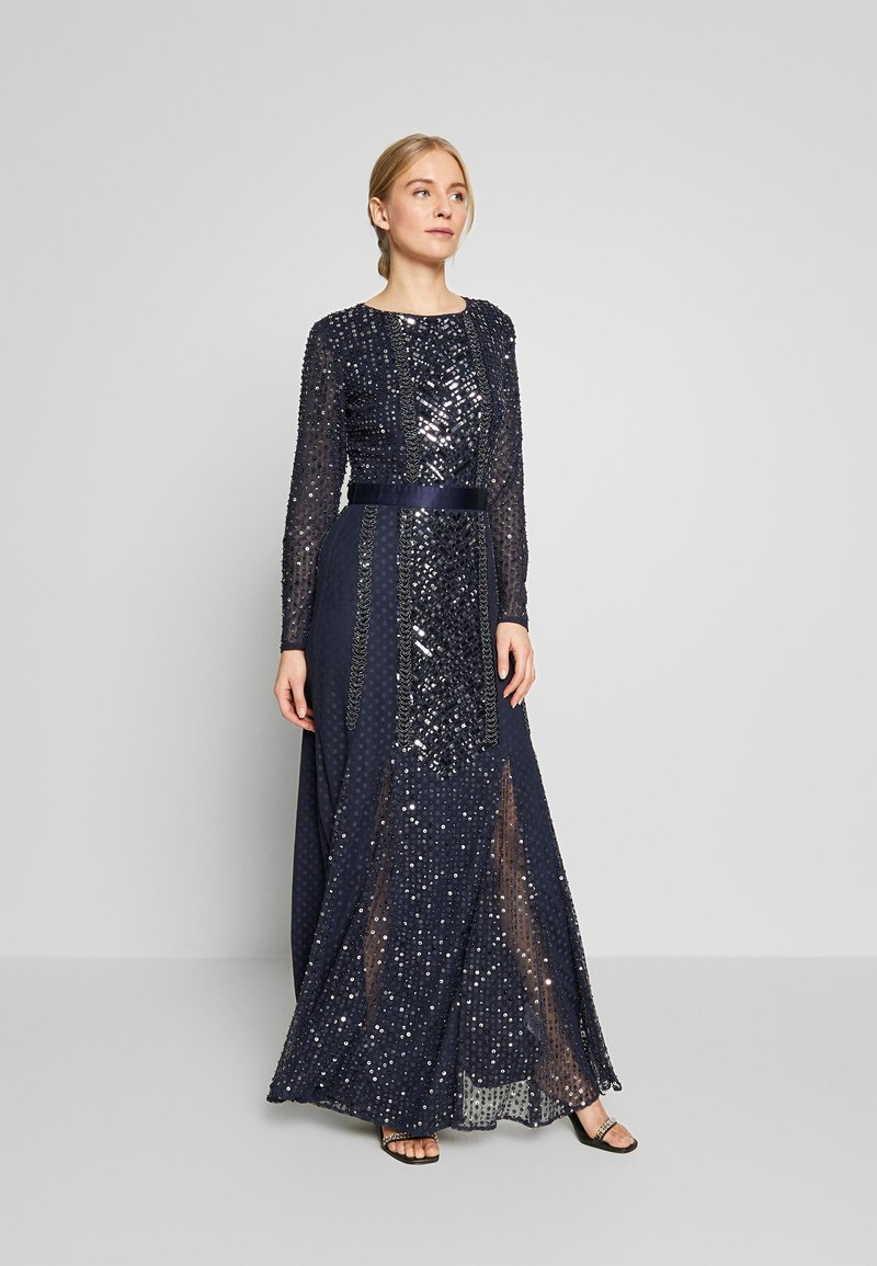 Maya Deluxe - ALL OVER EMBELLISHED SPOT MAXI DRESS - Suknia balowa - navy