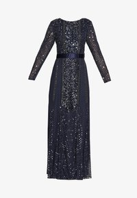 Maya Deluxe - ALL OVER EMBELLISHED SPOT MAXI DRESS - Suknia balowa - navy - 4