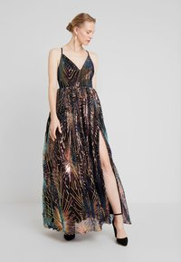 Maya Deluxe - ALL OVER SEQUIN MAXI DRESS WITH THIGH SPLIT - Společenské šaty - multi - 1