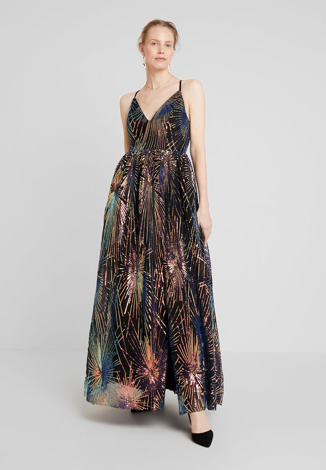 ALL OVER SEQUIN MAXI DRESS WITH THIGH SPLIT - Suknia balowa - multi