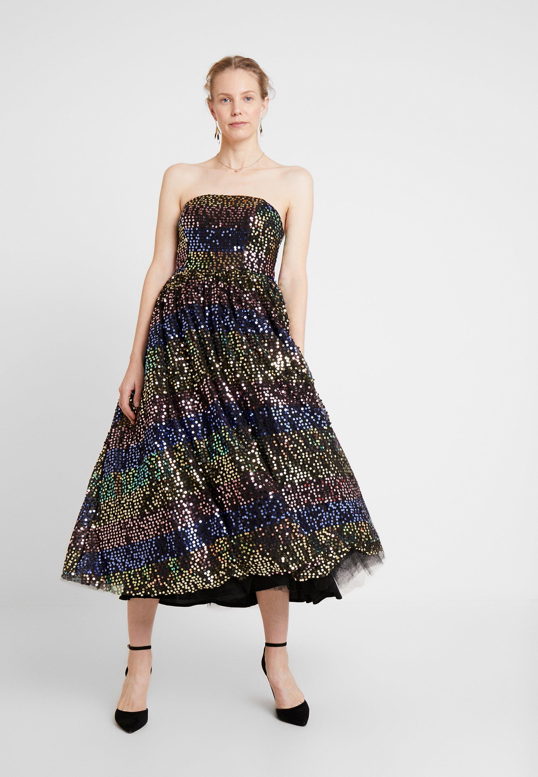 Maya Deluxe SEQUIN BANDEAU MIDAXI DRESS - Robe de soirée multi