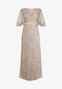 Maya Deluxe - KIMONO SLEEVE ALL OVER DELICATE SEQUIN MAXI DRESS - Iltapuku - taupe blush - 5