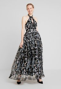 Maya Deluxe - ALL OVER EMBROIDERED PROM MAXI DRESS WITH KEYHOLE - Occasion wear - multi - 1