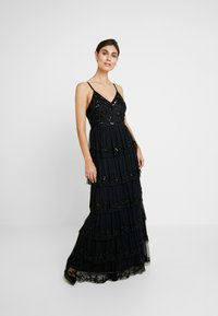 Maya Deluxe - EMBELLISHED CAMI MAXI DRESS WITH TIERED SKIRT - Ballkjole - black - 2